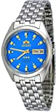 orient watch blue dial - Orient #FAB00009L Men's 3 Star Stainless Steel Blue Dial Self Wind Automatic Watch