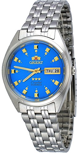 Orient #FAB00009L Men's 3 Star Stainless Steel Blue Dial Self Wind Automatic ()