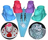 4 pack 3D Cat Shape Silicone Cupcake Molds with Decorating Kit – Good for Chocolate, Jello, Ice, and Soap. Unique Gift for Cat Lovers and Bakers
