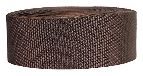 Strapworks Lightweight Polypropylene Webbing - Poly Strapping for Outdoor DIY Gear Repair, Pet Collars, Crafts - 2 Inch x 10 Yards - Brown ()