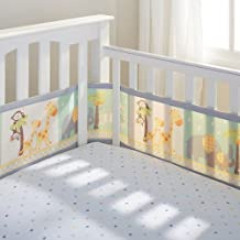 BreathableBaby Breathable Mesh Crib Liner- 2 by 2 Safari