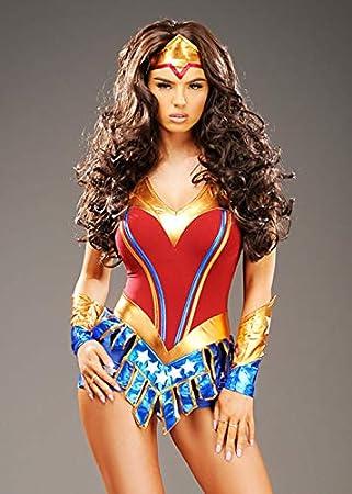 Magic Box Disfraz de superhéroe Estilo Wonder Woman para Mujer ...