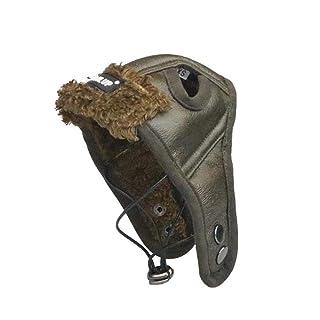POPETPOP Cappello di Pilota in Pelle da Invernali per Cani e Gatti XXL