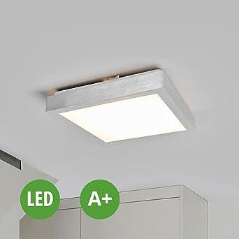 LED Deckenleuchte Robito (Modern) in Alu aus Kunststoff u.a. für ...