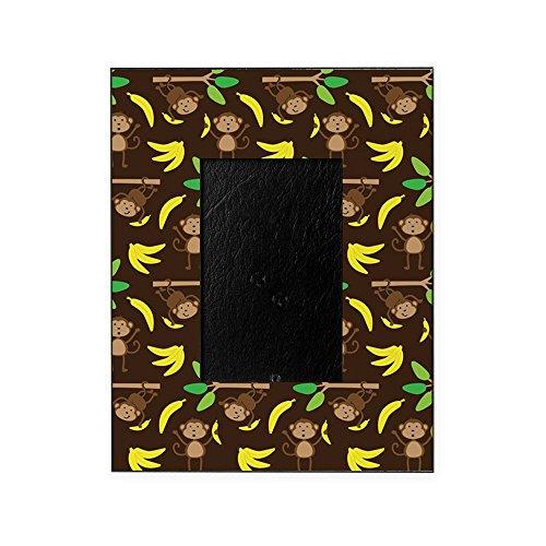 CafePress - Monkeys Bananas Brown - Decorative 8x10 Picture Frame ()