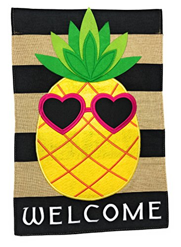 Lantern Hill Burlap Garden Flag Yard Decoration; 12 inches b