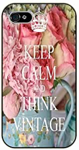 iPhone 5 / 5s Keep Calm and think vintage - black plastic case / Keep Calm, Motivation and Inspiration