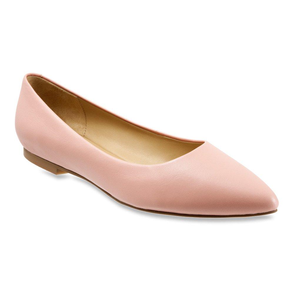 Trotters Women's Estee Ballet Flat B011EZPG9E 11 B(M) US|Pale Pink Soft Nappa Leather