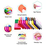 Polymer Clay, 24 Colors Oven Bake Modeling Clay - DIY Craft Polymer Block with 5 Modeling Tool sets and Jewelry Accessories - By WonderforU