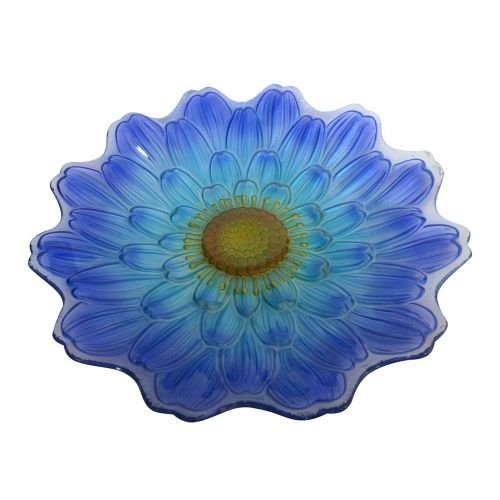 Alpine Blue Flower Birdbath, 18'', 3 pcs