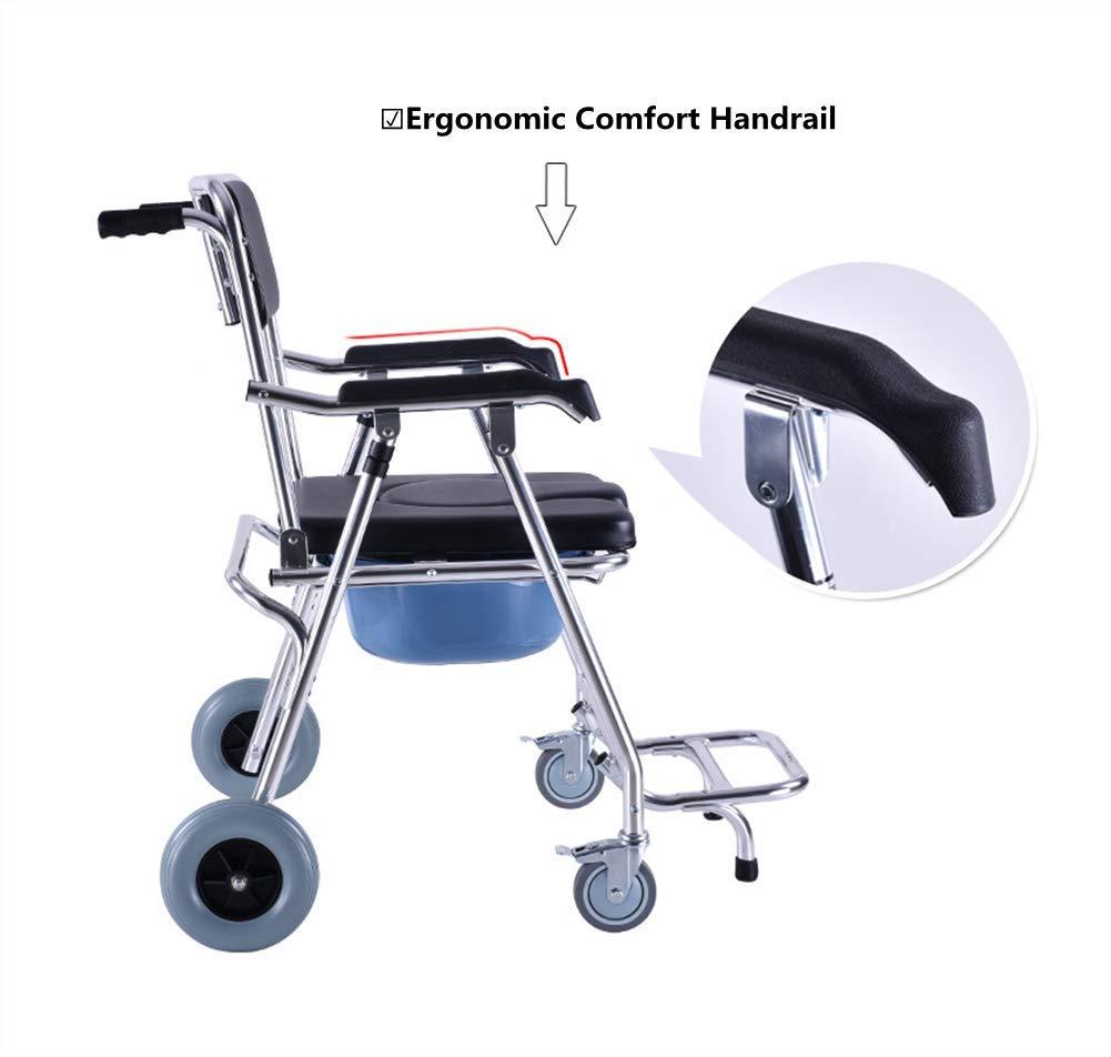 Asiento Personal A Prueba De Agua Silla Con Orinal Silla De Ducha Transporte Médico Silla Con Frenos: Amazon.es: Salud y cuidado personal