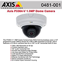 Axis, P3364-V 6Mm Network Camera Dome Vandal-Proof Color ( Day&Night ) 1280 X 960 Vari-Focal Audio 10/100 Mjpeg, H.264 Poe Product Category: Networking/Security Cameras