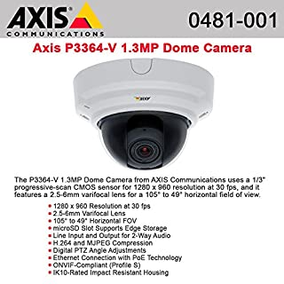 "Axis, P3364-V 6Mm Network Camera Dome Vandal-Proof Color ( Day&Night ) 1280 X 960 Vari-Focal Audio 10/100 Mjpeg, H.264 Poe ""Product Category: Networking/Security Cameras"""