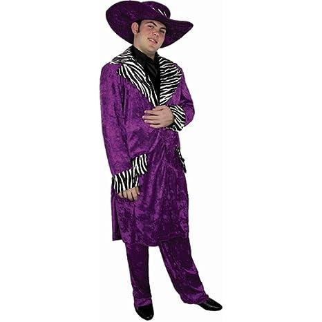 Amazon.com: Disfraz de pimp traje para hombre, color morado ...