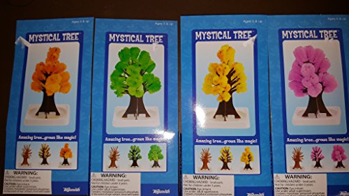 Toysmith 4 inch Mystical Tree Crystal Growing Kit Set of 4 (Mystical Crystal)