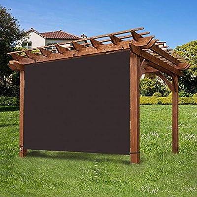 Ecover - Panel de Sombra Ajustable Impermeable 90% DE privacidad para Colgar Parasol para pergola/Porche/Patio, 5 x 5 pies café: Amazon.es: Jardín