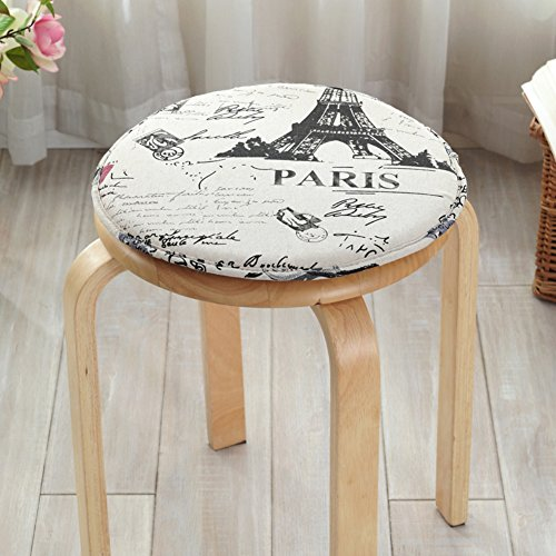 Air Grid Fabric Chair (LJ&XJ Children Seat Cushion, Round Sponge Dining chairs pads, Non-slip Soft Breathable, Student stool Bar stools Indoor Outdoor-G diameter34cm(13inch))