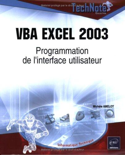 VBA Excel 2003 : Programmation de l'interface util...