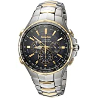 Seiko Men's 'COUTURA' Quartz Stainless Steel Casual Watch, Color:Two Tone (Model: SSG010)