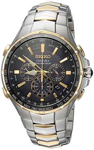 Seiko-Mens-COUTURA-Quartz-Stainless-Steel-Casual-Watch-ColorTwo-Tone-Model-SSG010