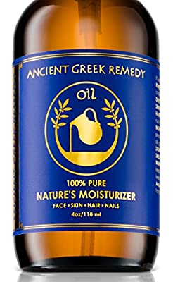 100% Organic Blend of Olive, Lavender, Almond & Grapeseed oil with Vitamin E, Daily Moisturizer for Skin, Hair, Face, Scalp, Cuticle, Nails & Foot. Pure, Cold Pressed, Body oil for Men and Women, 4 oz