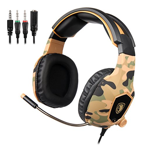 Free Mac Games Monopoly - SADES SA818 Gaming Headset for New Xbox One PS4 PC Laptop, 3.5mm Over Ear Gaming Headphones with Mic and Volume Control for Nintendo Switch Games, Camouflage
