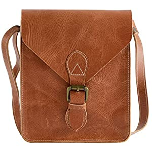 Genuine Leather Crossbody Crossover Bag – Best Vintage Leather Crossbody Purse