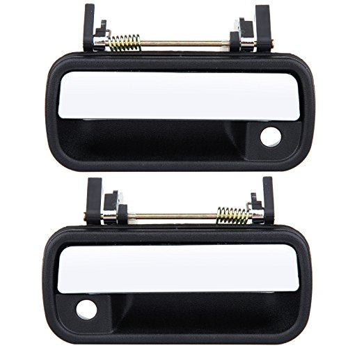 (ECCPP Door Handles Exterior Outer Outside Front Passenger Driver Side Chrome for 1989 1990 1991 1992 1993 1994 1995 Toyota Pickup)