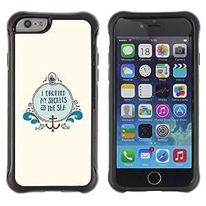Suave TPU GEL Carcasa Funda Silicona Blando Estuche Caso de protección (para) Apple Iphone 6 PLUS 5.5 / CECELL Phone case / / Sea Minimalist Ocean Beige Anchor Boat /