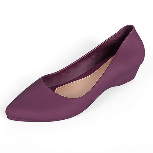 Mujer Damas Moda CuñAs Mocasines Zapatos Casuales: Amazon.es: Zapatos y complementos