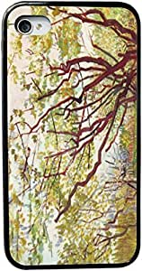 XiFu*MeiVan Gogh Art Cherry Tree Design Personality Silicon Rubber Luxury Cover Case For iphone 5/5s (Black & White) By ALL MY DREAMS!!XiFu*Mei