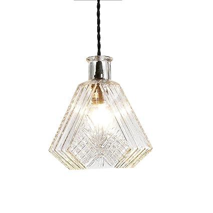 Lámparas de cristal de cristal grabada Botella de cristal Lámparas de vidrio Moderno minimalista Personalidad creativa