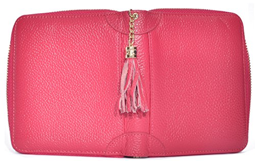 Easyoulife Womens Credit Card Holder Wallet Zip Leather Card Case RFID Blocking (Rose) by Easyoulife (Image #5)