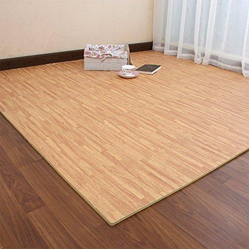 The Emulation flooring foam rollmat large stitching woodgrain Sponge Pad Home Child Foam Puzzle Mats ,30301.2 CM, light by TDLC (Image #3)