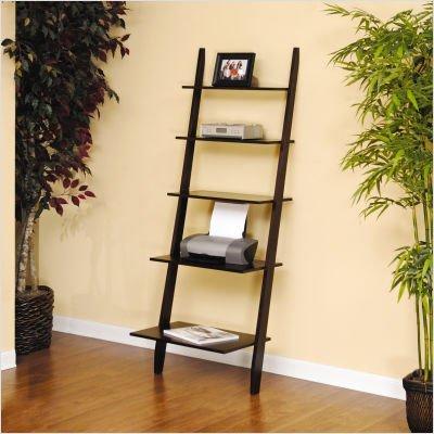 Sauder 408922 Steadfast Grand Lake Series Ladder Bookcase In Espresso