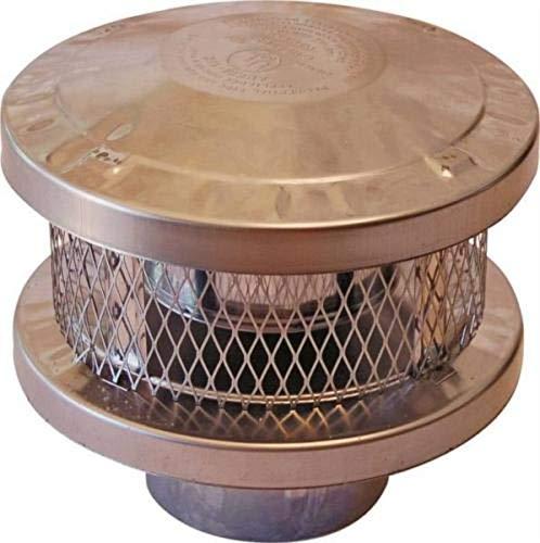 New American Metal Ameri-TEC 6HS-RCS 6 INCH Chimney Stove Round Vent Cap 6846018 ()