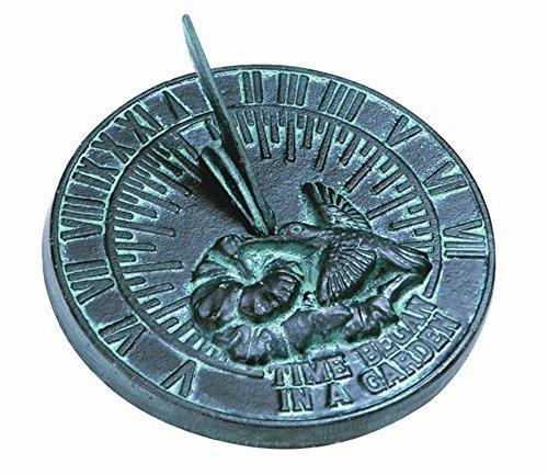 (Rome 2532 Hummingbird Sundial, Cast Iron with Verdigris Finish, 7.5-Inch Diameter)