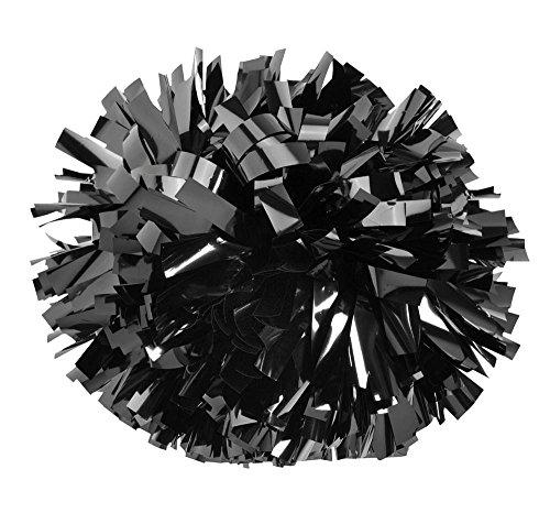 Pizzazz POM6M - Metallic Pom Pom (Metallic - Pom Poms Metallic Black