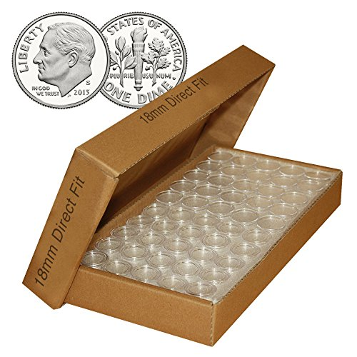 Merrick Mint DIME Direct-Fit Airtight 18mm Coin Capsule Holders For DIMES (QTY: 25) (Air Tight Coin Capsules)