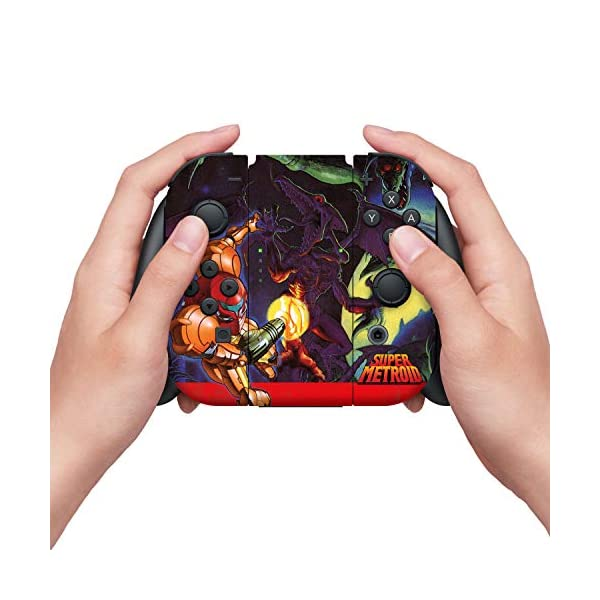 Controller Gear Officially Licensed Nintendo Switch Skin & Screen Protector Set - Super Metroid - Nintendo Switch 3