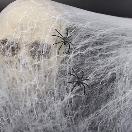 Halloween Scary Party Scene Prop Stretchy Spider Web Horror Halloween Decoration