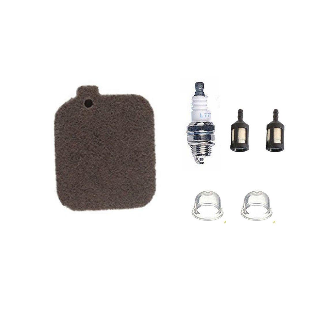 tucparts Luftfilter + Zü ndkerze + Kraftstofffilter + Primer Leuchtmittel fü r Stihl BG45 BG46 BG55 BG65 Saite bg85 SH55 SH85 Geblä se # 4229 120 1800
