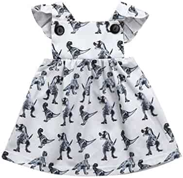 82f4383501be Toddler Baby Girl Sleeveless Ruffle Lace Princess Tutu Dresses Outfit  Clothes