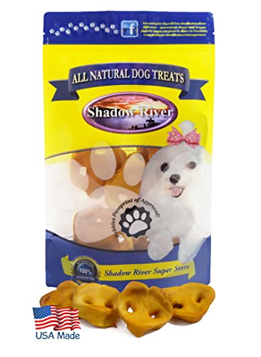 Shadow River Pig Snouts for Dogs - Premium All Natural Chews - 12 Pack Petite Small Pork Noses