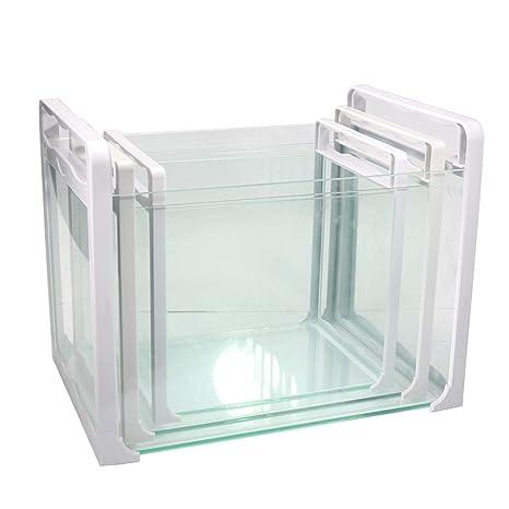 JIANGU - Juego de 3 peceras de Cristal, portátil, Puede elevar Peces pequeños y