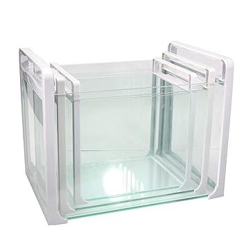 JIANGU - Juego de 3 peceras de Cristal, portátil, Puede elevar Peces pequeños y Tortugas: Amazon.es: Productos para mascotas