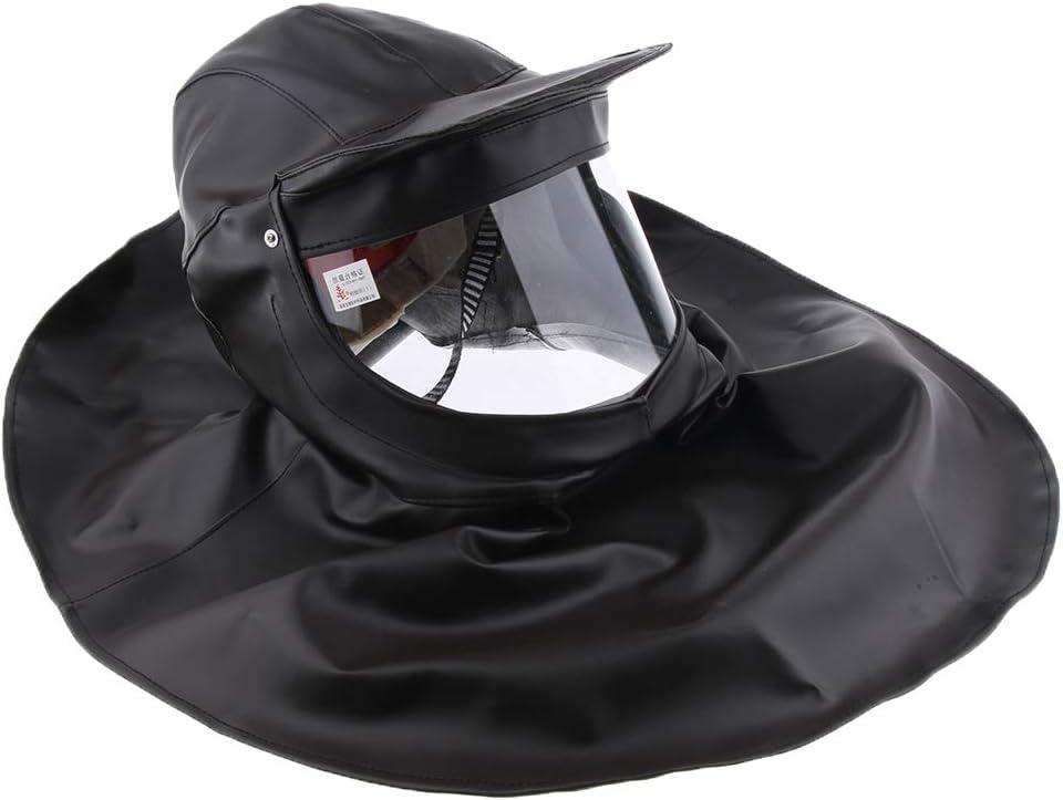 H HILABEE Selle La Máscara Protectora con Casco De Seguridad Incorporado, Capucha Resistente A Los ácidos Y álcalis - Segundo