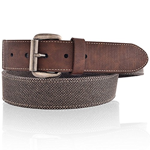 Mens Belts for Jeans Stylish Canvas Leather with Roller Bukcle (Casual Canvas Belt)
