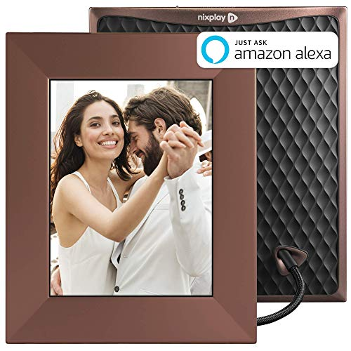 Nixplay Iris 8 Inch Smart Photo Frame W08E Burnished Bronze - WiFi Picture Frame with IPS Display, Motion Sensor and 10GB Online Storage, Display and Share Photos with Friends via Nixplay Mobile App ()