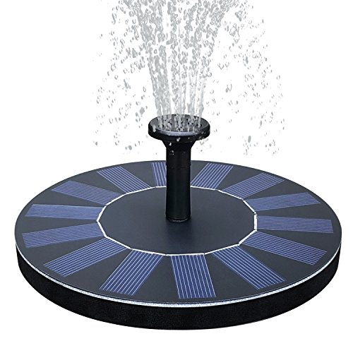 ath Fountain Pump 1.4W Floating Solar Panel Fountain Water Pumps Kit Outdoor Birdbath Water Fountain Pump for Pond, Pool, Patio and Garden Decoration (Floating Fountain)